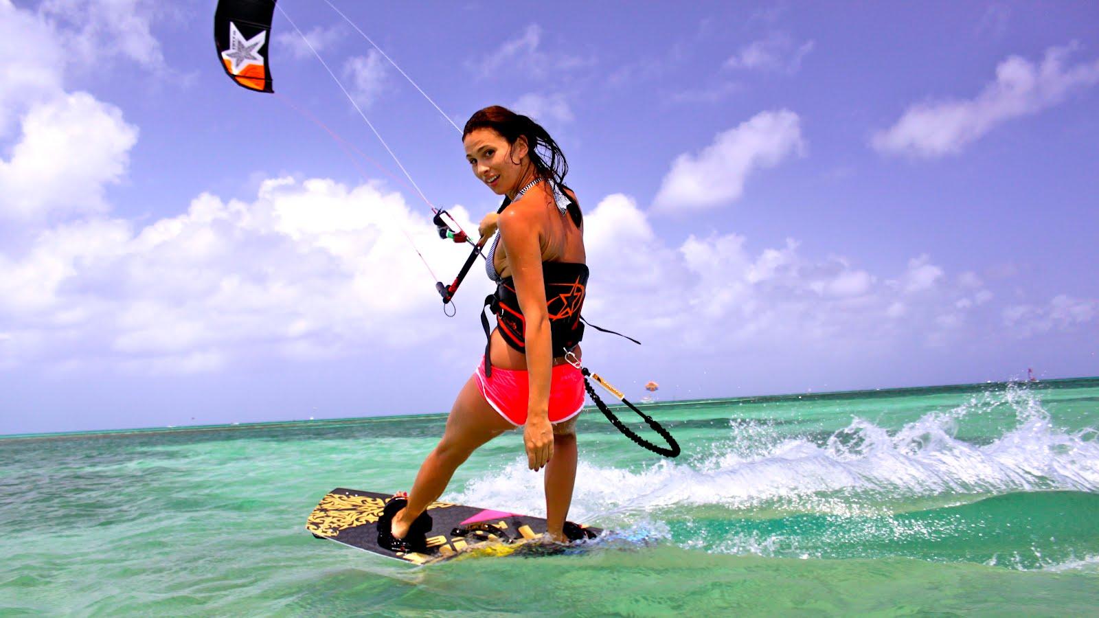kitesurf chica